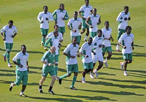 Timu ya taifa ya Nigeria Super Eagles alioichezea Rashidi Yekini.