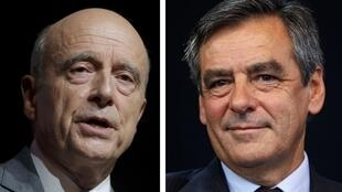 Alain Juppé et François Fillon, les deux finalistes de la primaire de droite en France.