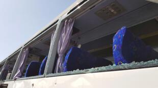 Взорванный автобус в пригороде Каира, 19 мая 2019