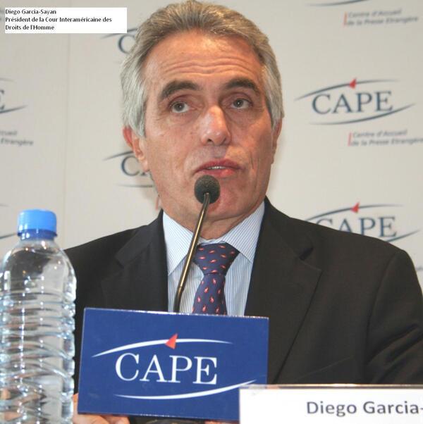 Diego García Sayán, presidente de la Corte Interamericana de Derechos Humanos (CIDH).