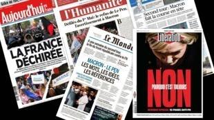 Os jornais desta terça-feira (02) tomam partido contra a candidata da extrema-direita ao segundo turno da presidencial francesa, Marine Le Pen.