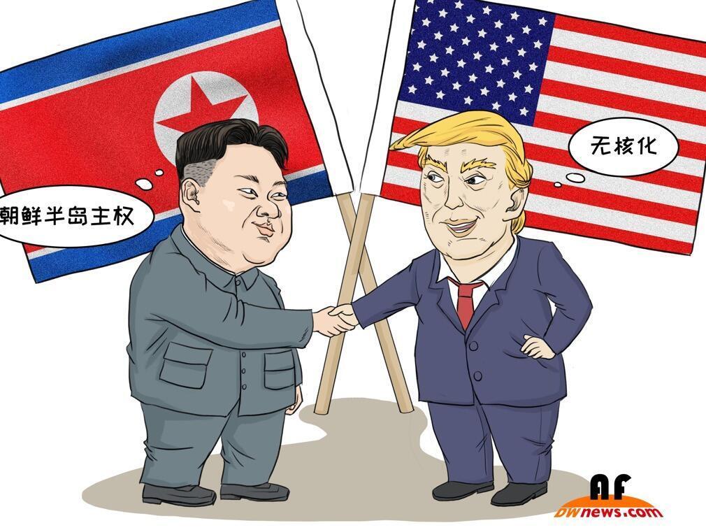 美朝领导人会谈。