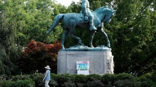 Estatua de Robert E. Lee, en Charlottesville, Virginia, el pasado 16 de agosto de 2017.