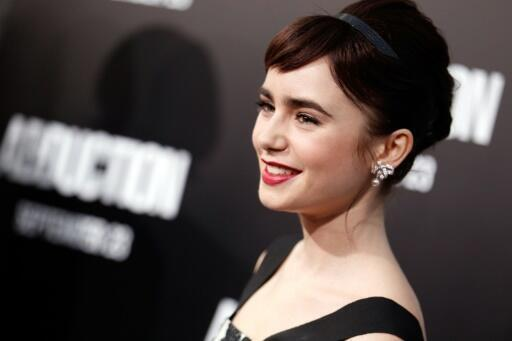 """Actress Lily Collins, the daughter of pop star Phil Collins, plays the lead character in """"Emily in Paris"""""""