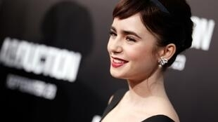 "Actress Lily Collins, the daughter of pop star Phil Collins, plays the lead character in ""Emily in Paris"""