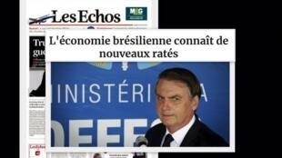 Na resenha da imprensa francesa desta terça-feira artigo do Les Echos diz que a economia brasileira enfrenta novos fracassos.