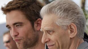 Le réalisateur David Cronenberg et l'acteur de son dernier film «Cosmopolis», Robert Pattinson.