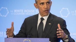Barack Obama durante a Cúpula Contra Extremismo Violento.