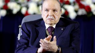 Abdelaziz Bouteflika lors de sa prestation de serment le 28 avril 2014.