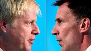 The two candidates for Britain's next prime minister: Boris Johnson (l) & Jeremy Hunt (r)