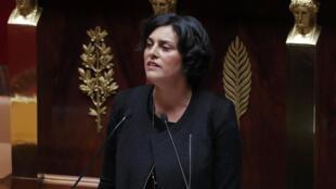 La ministre du Travail, Myriam El Khomri, à l'Assemblée nationale, le 3 mai 2016.