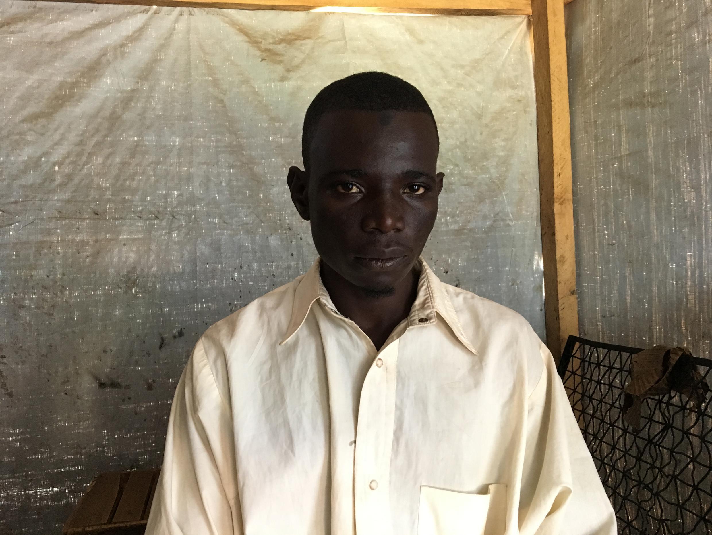 Ummar Hassan, 22, refugee from Bokaranga, CAR, apprentice driver