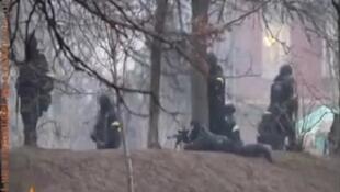 """Кадр из видео Радио """"Свобода"""". Киев 20/02/2014"""
