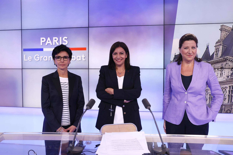 Rachida Dati, Anne Hidalgo e Agnès Buzyn, candidatas à Câmara de Paris