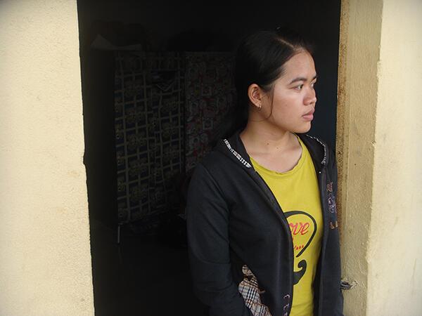 Mao Sotheara, étudiante de l'université royale de Phnom Penh, au Cambodge.