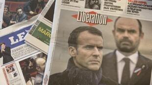 Primeiras páginas dos jornais franceses 05-12-2018