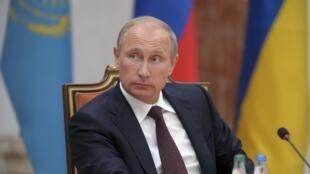Le président russe Vladimir Poutine à Minsk, le 26 août 2014.