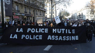 Protesters rallied in cities across France against police violence