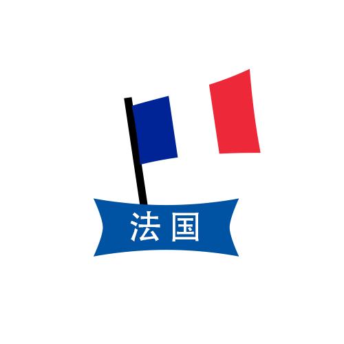 图为法国国旗卡通图案