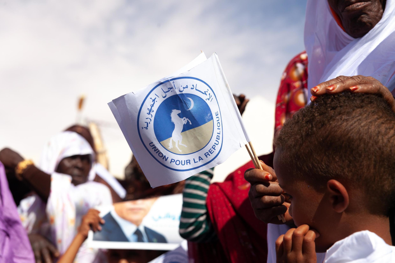 Des soutiens au candidat Mohamed Ould Ghazouani venus assister à un meeting organisé à Chinguetti, en avril 2019.