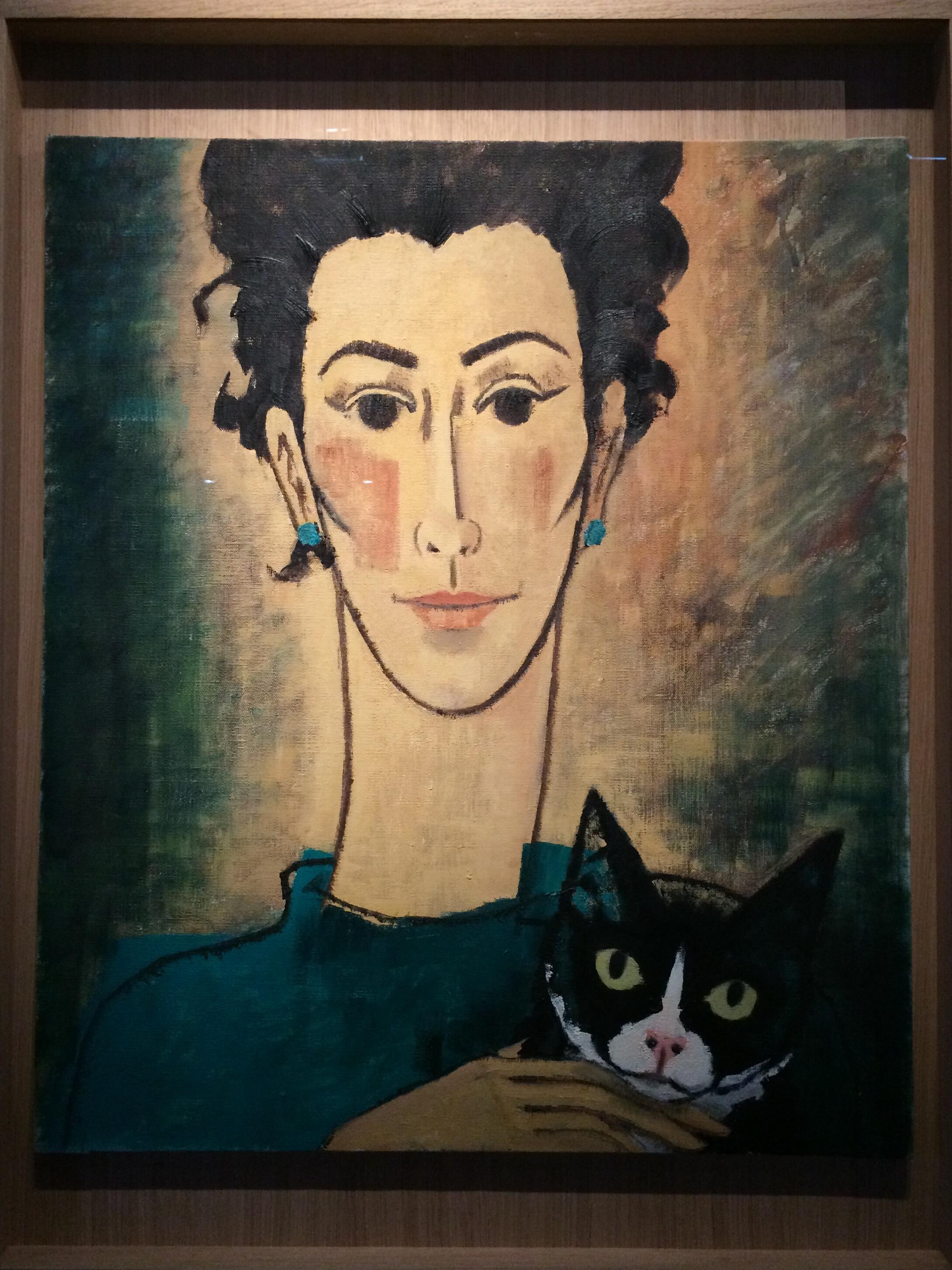 Fanny Vlamynck, người vợ thứ hai của Hergé, do họa sĩ vẽ. Triển lãm Hergé, Grand Palais, Paris.