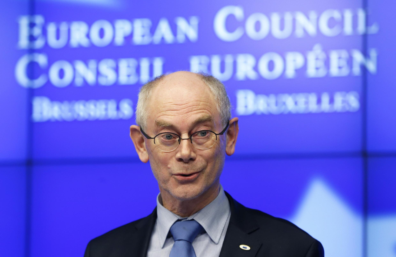 Chủ tịch Hội đồng châu Âu H. Van Rompuy. Ảnh ngày 08/02/2013