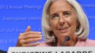 A diretora-geral do FMI Christine Lagarde, em outubro em Washington