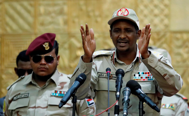 Luteni Jenerali Mohamed Hamdan Dagalo, namba mbili wa Baraza la Kijeshi la Mpito Sudan, Khartoum, Juni 20, 2019.