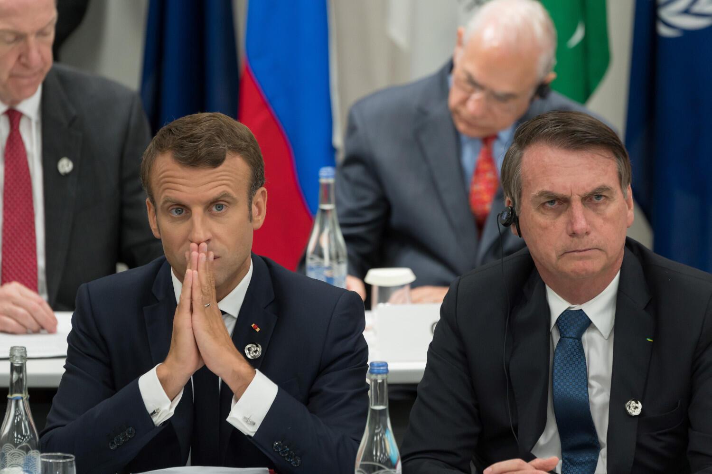 Presidentes Emmanuel Macron e Jair Bolsonaro se desentenderam sobre a Amazônia, enquanto os dois países vivem melhor momento de parcerias econômicas.