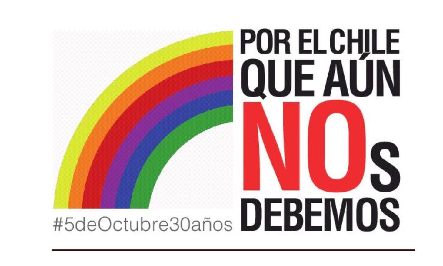 Lema para conmemorar los 30 años de la victoria del NO.