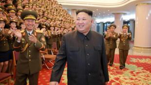 Lãnh tụ Bắc Triều Tiên Kim Jong Un tại Nhà Hát Nhân Dân Bình Nhưỡng, 23/02/2017.
