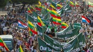 birmanie manifestation pro-militaires rangoun