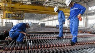 Nhà máy đúc đồng Jinlon Copper, tại Đồng Lăng (Tongling), tỉnh An Huy, Trung Quốc, ngày 16/08/2018.