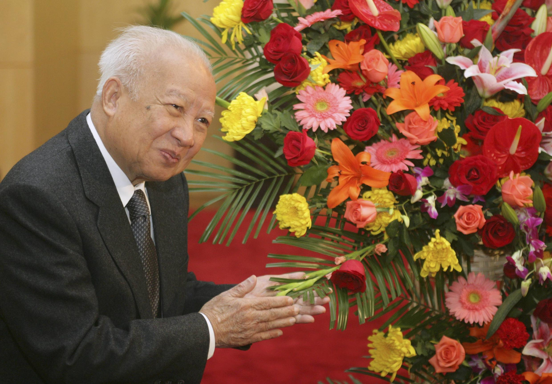 L'ancien roi du Cambodge, Norodom Sihanouk, le 30 octobre 2006 à Pékin.