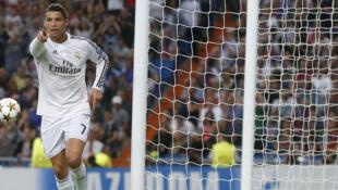 Cristiano Ronaldo marque en C1 avec le Real, le 16 septembre 2014.