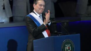El presidente panameño, Laurentino Cortizo, durante su ceremonia de asunción, el 1º de julio de 2019 en Ciudad de Panamá