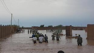 Les inondations dans la ville d'Agadez au Niger.