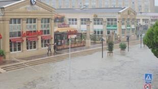 Flooded streets of Montpellier,  29 September 2014.