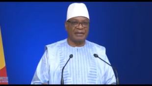 Capture d'écran de l'adresse à la nation prononcée par le président malien Ibrahim Boubacar Keïta le 5 novembre 2019.