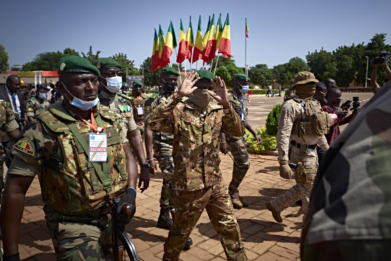 Le chef de la junte, Assimi Goïta, lors des cérémonies des 60 ans de l'indépendance du Mali, à Bamako, le 22 septembre 2020.