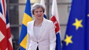 Thủ tướng Anh Theresa May đến thượng đỉnh Liên Hiệp Châu Âu, tại Bruxelles, Bỉ, ngày 23/06/2017.