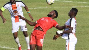 Festus Mbewe (ici en janvier 2019 face à San Pedro) et ses coéquipiers du Nkana FC ont pris l'avantage face au CS Sfaxien, en quarts de finale de la Coupe de la Confédération.