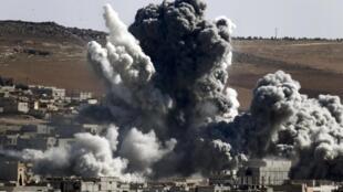 Bombardeios em Kobani em 22 de outubro