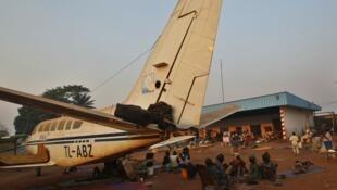 Camp de réfugiés à l'aéroport M'Poko de Bangui, le 20 février 2014.