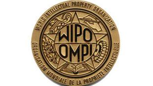 Logo de la Organización Mundial de la Propiedad Intelectual -OMPI- con sede en Ginebra (Suiza).