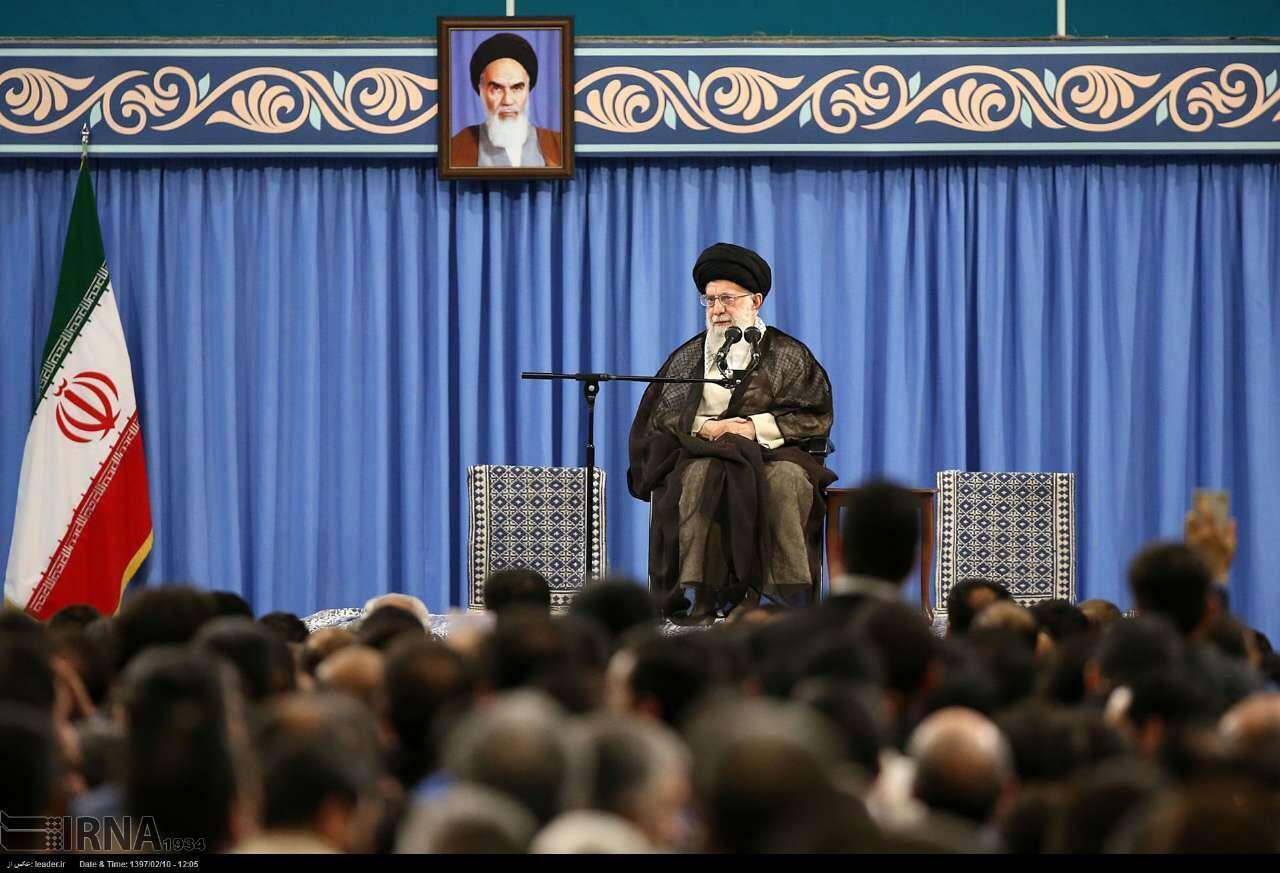 O guia supremo do Irã, aiatolá Khamenei