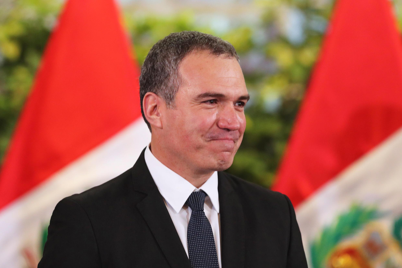 Salvador del Solar en la ceremonia de juramento, este 11 de marzo de 2019 en Lima, Perú.
