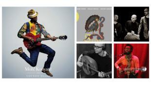 Pochettes des albums, et Moh Kouyaté et Sirventès à RFI.