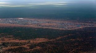Aerial view of Ifo 2 refugee camp in Dadaab, Kenya, 29 October 2014