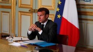 Shugaba Emmanuel Macron na Faransa.